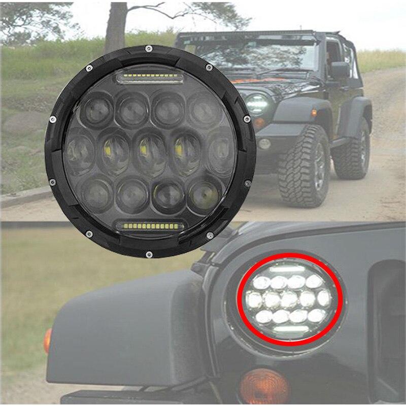 7inch 75W LED Head light 6000K White Driving fog Lights High / Low Beam for Jeep Wrangler JK Harley Daymaker Headlamp 1pair 30w 7inch headlamp car headlight 7 high low beam led head light for jeep wrangler