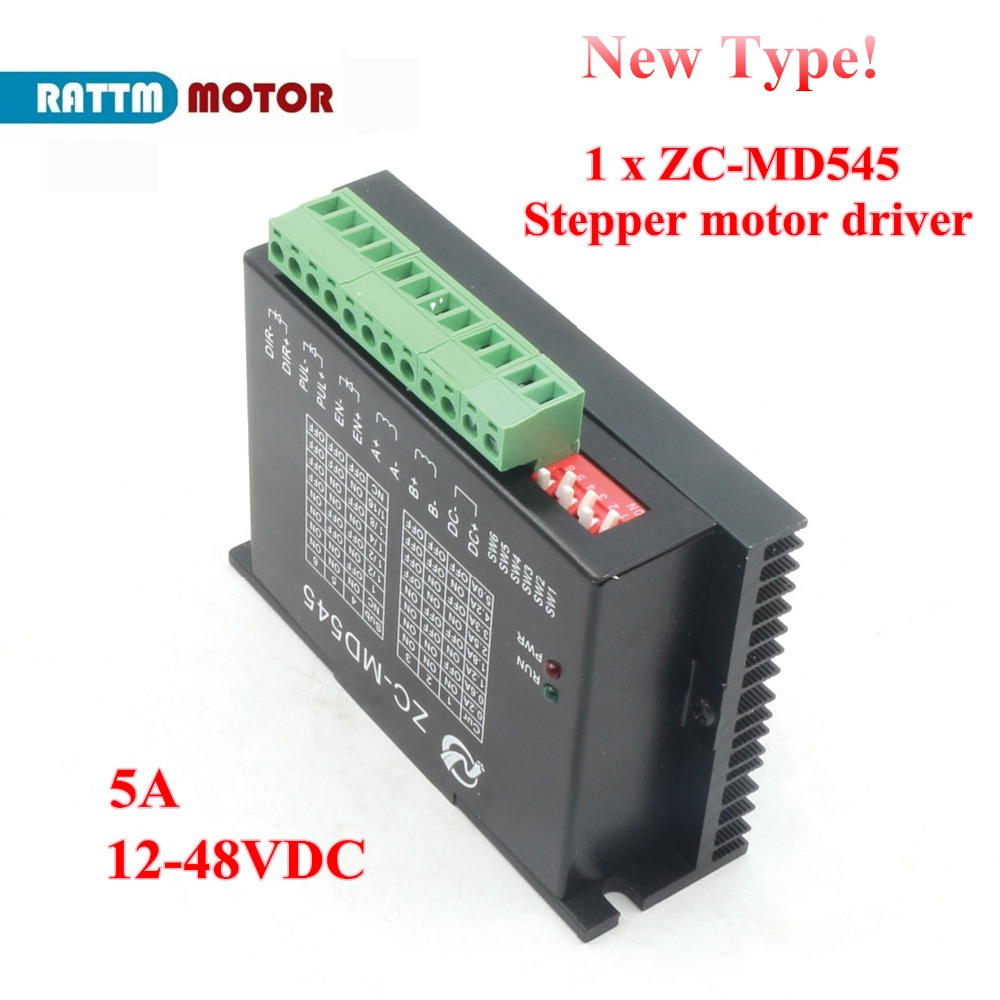 New type!!CNC ZC-MD545 stepper <font><b>motor</b></font> stepping <font><b>motor</b></font> <font><b>driver</b></font> <font><b>5A</b></font> 12-48V/<font><b>DC</b></font> For CNC Router image