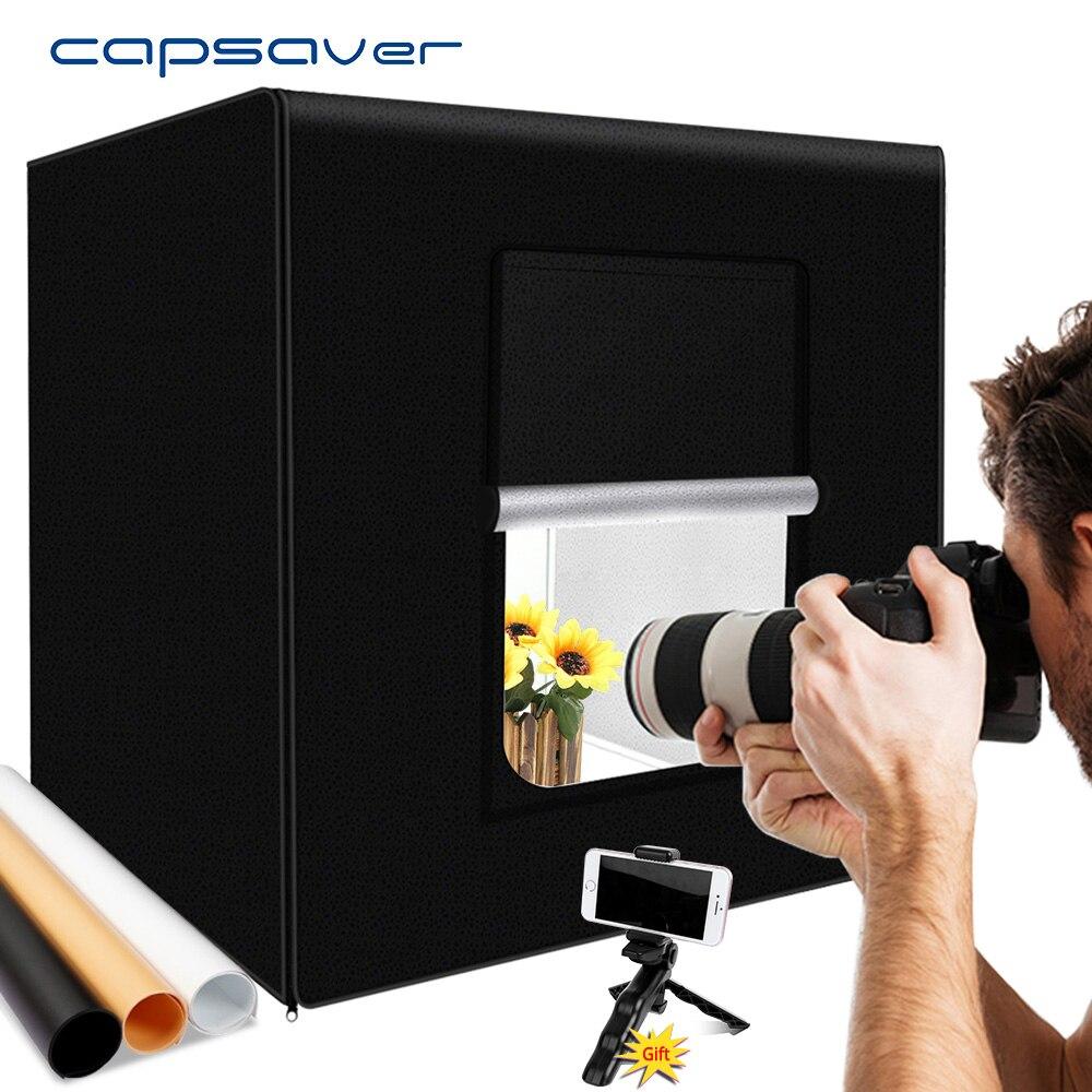 capsaver M40II Portable Photo Studio LED Light Box 40cm Folding Lightbox Photo Light Tent Softbox Kit for Jewelry Toy Shooting