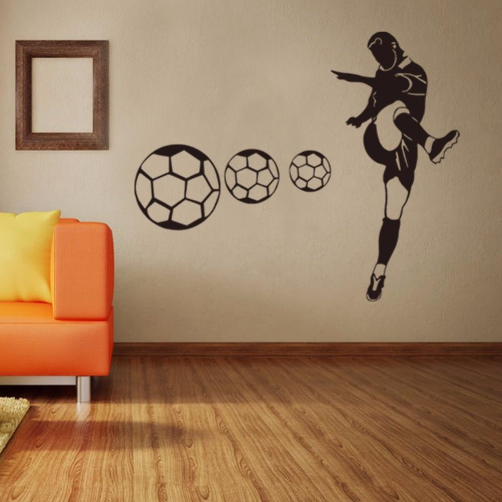Stivali personalizzati Calcio Wall Stickers Camera Da Letto Studenti ...