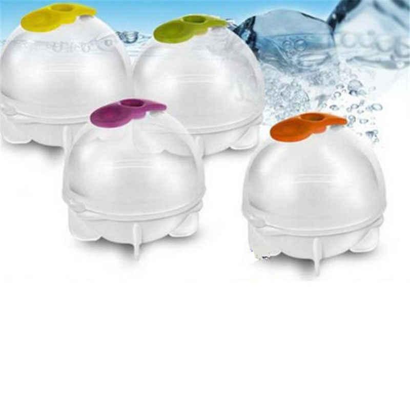 3.5 ซม. PlasticIce Cream Maker น้ำแข็งทำแม่พิมพ์บาร์เครื่องดื่มเหล้าวิสกี้ทรงกลมขนาดใหญ่รอบบอล Ice Brick Cube maker ถาด