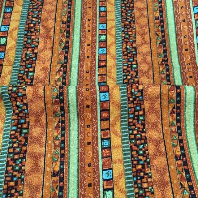 Jaune orange Bohême style coton et lin imprimé ethnique BRICOLAGE ...