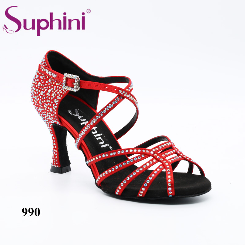 Free Shipping Suphini NEW IN Starry Latin Dance Shoes Red Salsa Dance Shoes free shipping suphini new in starry latin dance shoes red salsa dance shoes