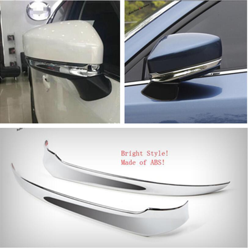 Yimaautotrims Rearview Mirror Strip Cover Trim ABS Fit For <font><b>Mazda</b></font> <font><b>CX</b></font>-<font><b>9</b></font> CX9 <font><b>2017</b></font> 2018 <font><b>2019</b></font> / Exterior Mouldings image