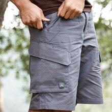 Летние мужские быстросохнущие большие свободные шорты с несколькими карманами, для альпинизма, походов, тренировок, тактические короткие брюки-карго длиной до колена