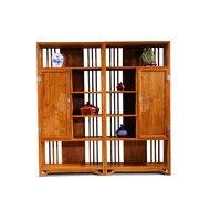 Ручной работы Ёжик деревянный книжный шкаф на заказ античный палисандр полка из массива дерева две двери книжная полка классическая красна