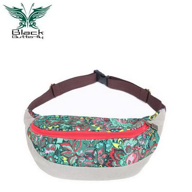 Diseñador de la marca Bolsa Riñonera Multifuncional Paquete de La Cintura Ocasional Bolsa de Lona de Impresión bolso de la Correa de Las Mujeres Correa Del Teléfono Bolsa Monedero B5101M