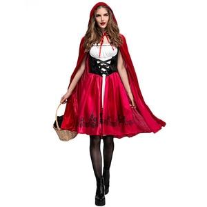 Image 1 - S 6XL المرأة مثير ليتل الأحمر ركوب هود زي الكبار هالوين زي حفلة تنكرية عباءة تأثيري
