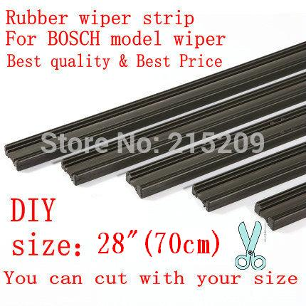 "Livraison gratuite Auto Car Vehicle Insert Rubber strip Wiper Blade (Recharge) 6mm Soft 28 ""700mm 2pcs / lot car accessories"