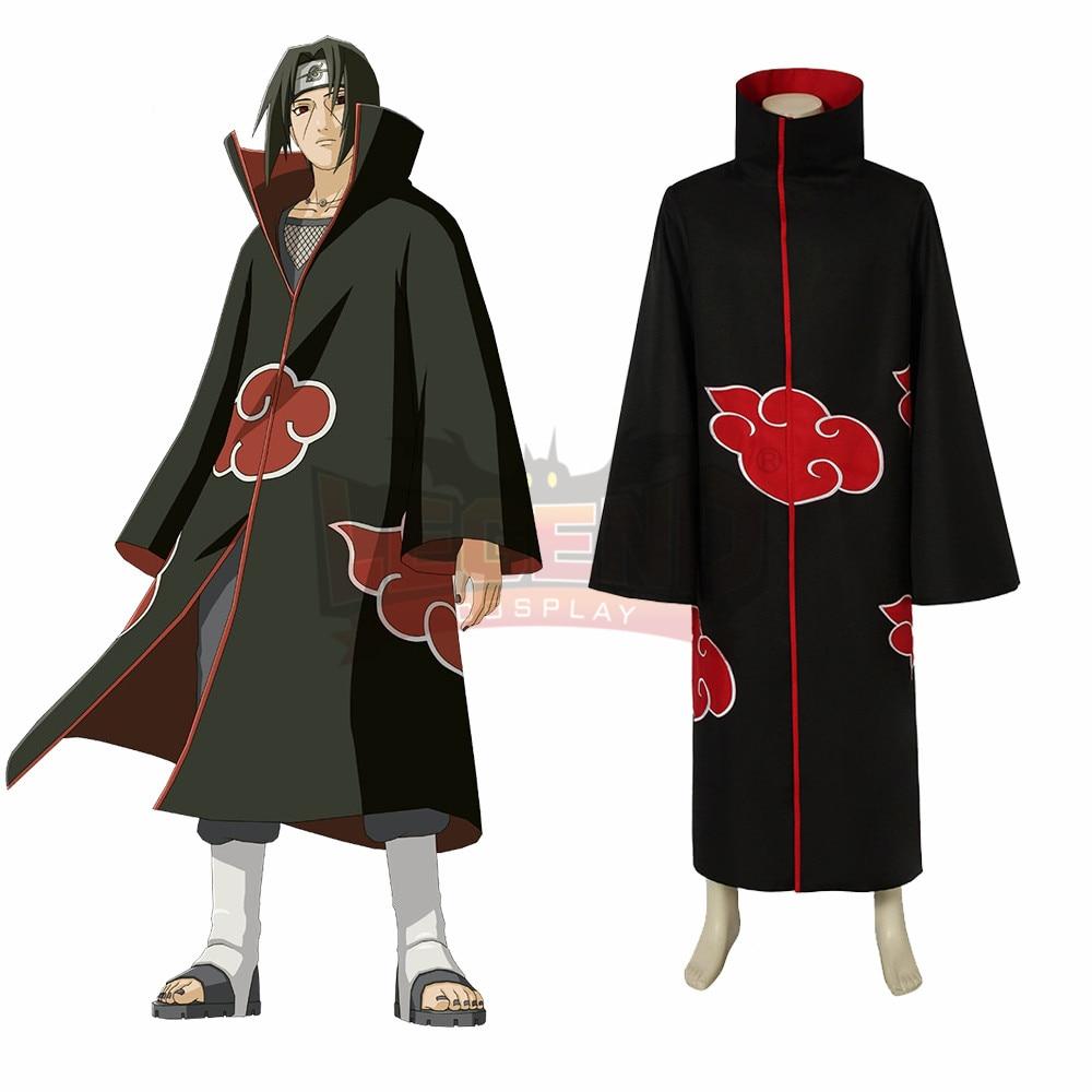 Anime Naruto Akatsuki Itachi Uchiha  cosplay costume custom made all size