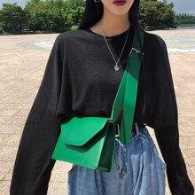 Простая, из искусственной кожи небольшие сумочки с клапаном Для женщин сумка бренды дизайн, широкий плечевой ремень сумки через плечо для Для женщин универсальные кошельки