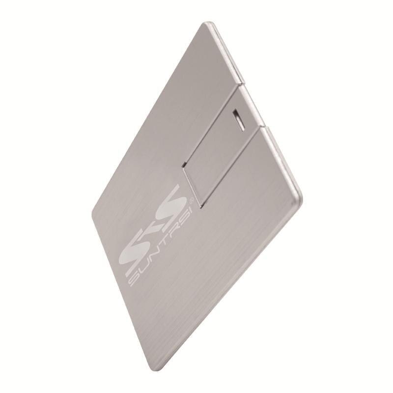 Suntrsi металла карту флэш-памяти с интерфейсом USB USB2.0 Флеш накопитель 64 ГБ Рисунок карты Тип интерфейсом USB 32 г флэш-карты индивидуальные печат...