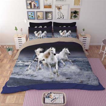Decoración De Caballos Para El Dormitorio   Unicornio Caballos Animal 3d Impreso Ropa De Cama Juegos De Cama Doble Reina Completa King Tamaño Dormitorio Decoración Color Brillante Niños