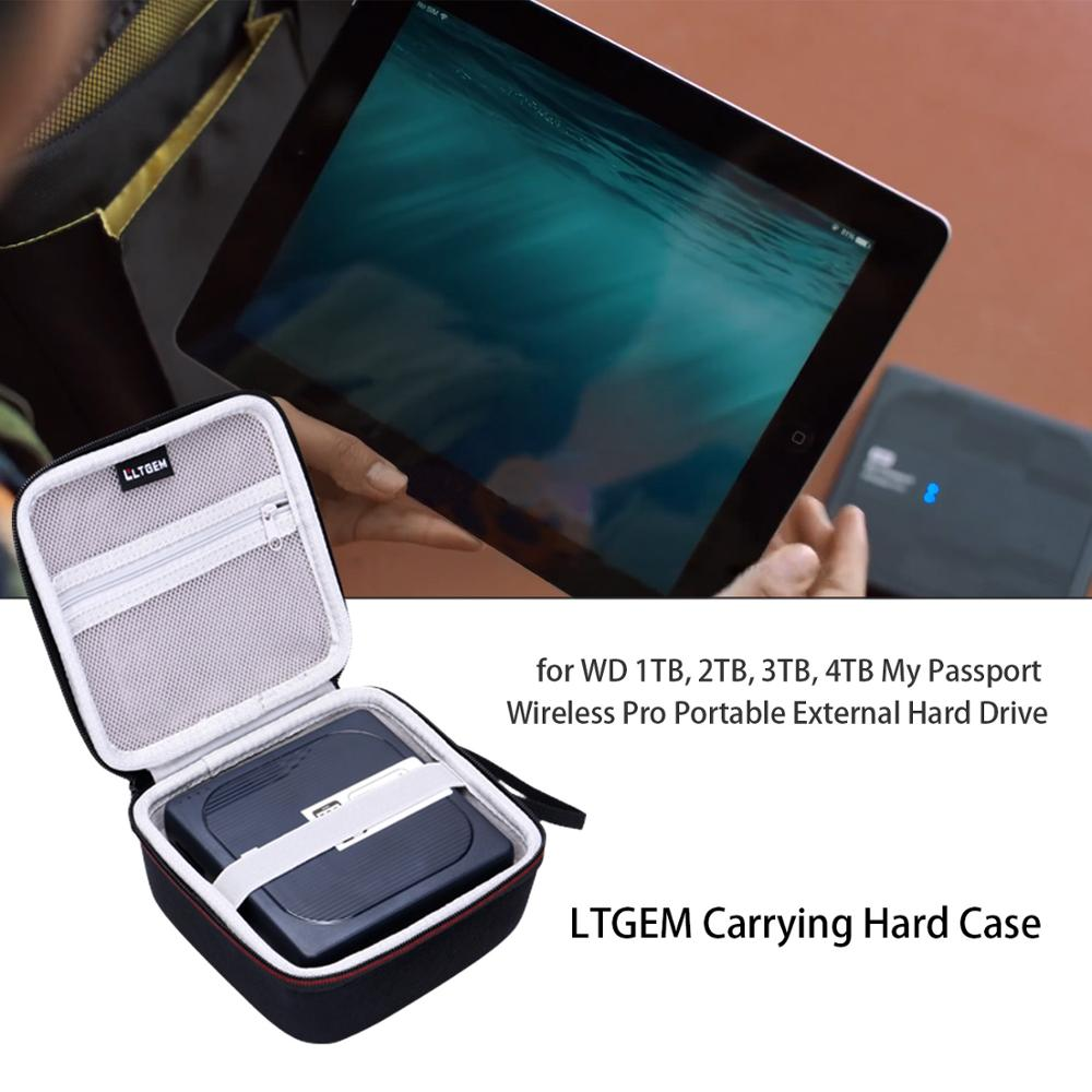 LTGEM Storage Case For WD 1TB, 2TB, 3TB, 4TB My Passport Wireless Pro Portable External Hard Drive -Travel Protective Carry Bag