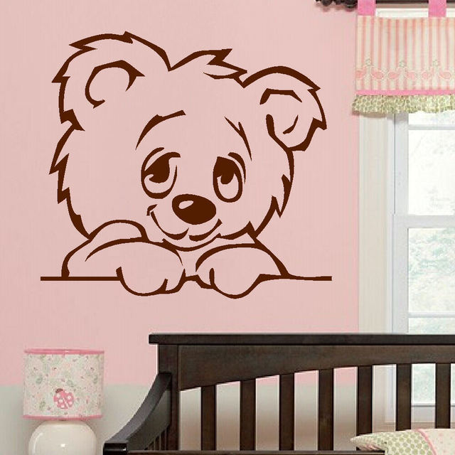 D322 Large Nursery Baby Teddy Bear Wall Mural Giant Transfer Art Sticker Poster Decal For Kids