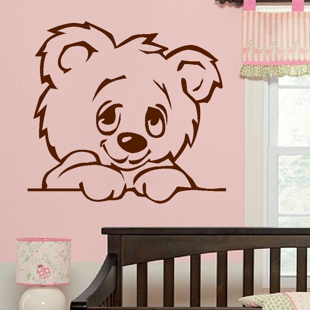 D322 LARGE NURSERY BABY TEDDY BEAR WALL MURAL GIANT TRANSFER ART STICKER  POSTER DECAL For Kids Room Nursery Decor