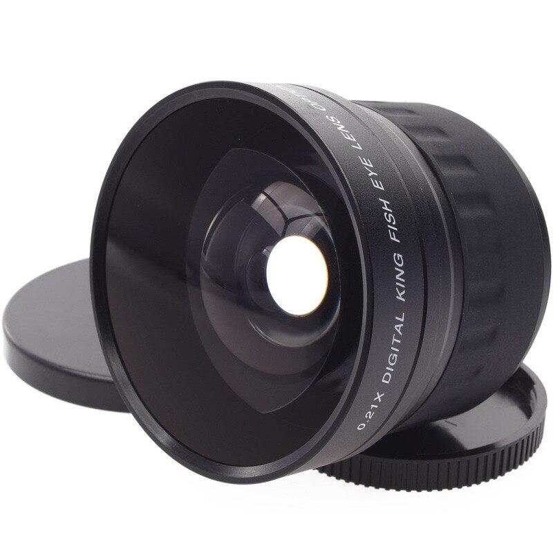 52mm 0.21X Groothoek Fisheye Lens + Tas voor Nikon D7200 D7100 D5200 D5100 D5000 D3100 D90 D60 met 18 55mm Lens-in Camera Lenzen van Consumentenelektronica op  Groep 1