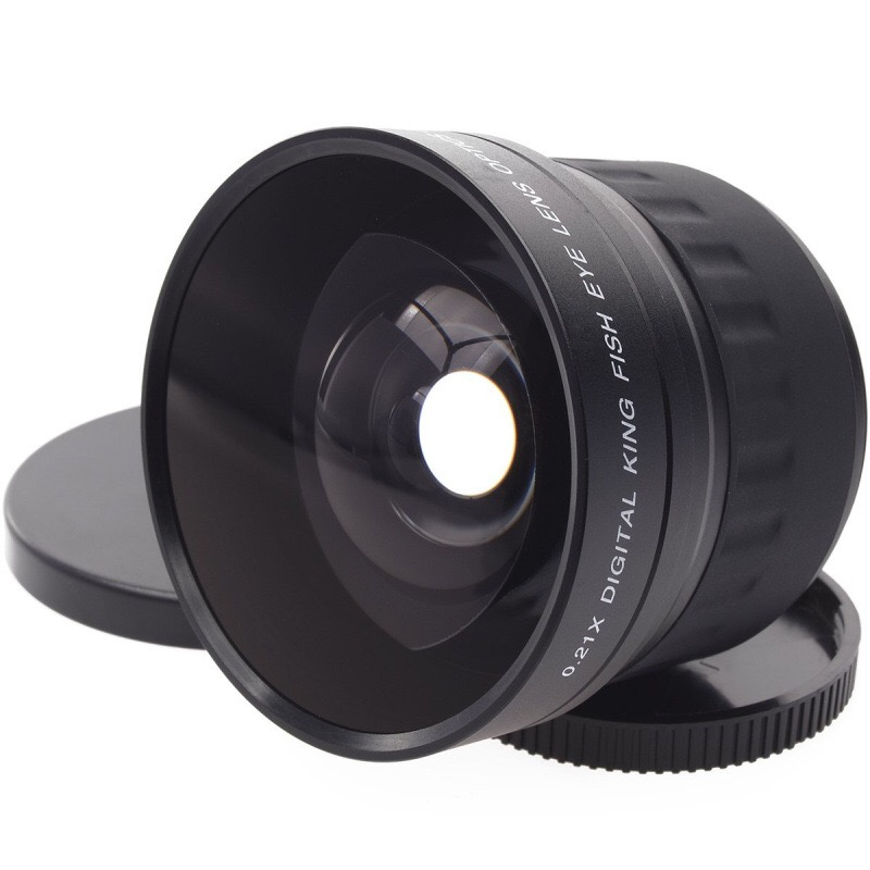 52mm 0.21X lentille fisheye angle large + Sac pour Nikon D7200 D7100 D5200 D5100 D5000 D3100 D90 D60 avec 18-55mm Lentille