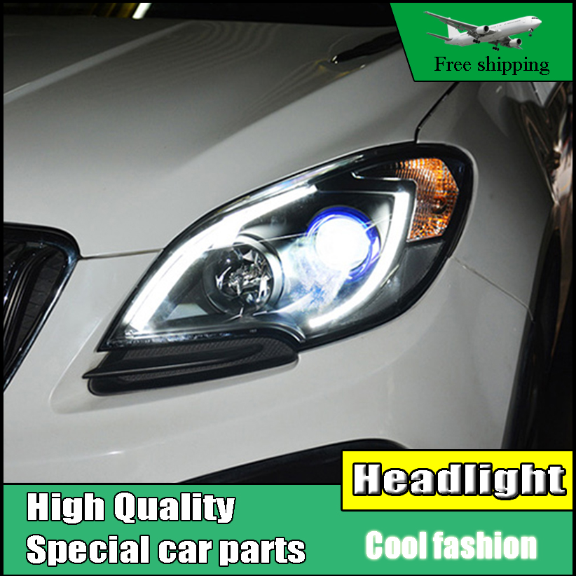 Car Styling Head Lamp For Opel MOKKA Headlights 2013-2015 For Buick Encore LED Headlight DRL Bi Xenon Lens High Low Beam Parking for buick encore opel mokka 2012 2014 car rain lamp super bright special laser beam rear end collision warning light page href