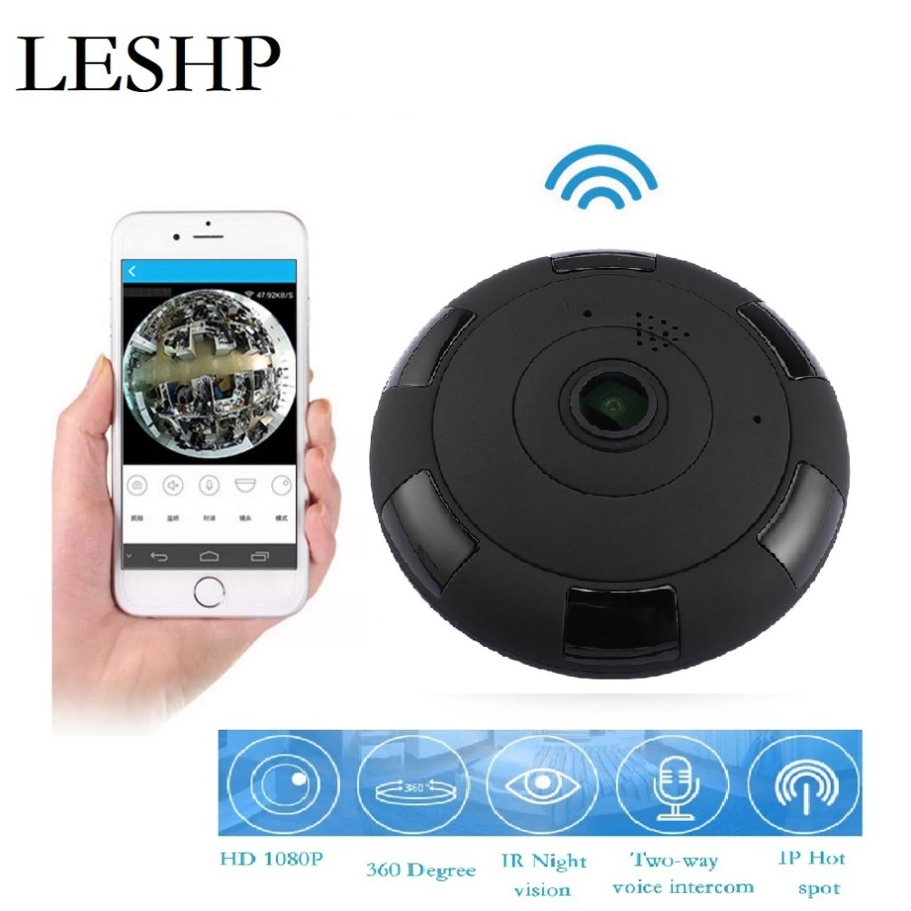 Aliexpress Hot Sales 360 Degree Panoramic Camera 1080P HD Wireless Security USB Camera Home WiFi Baby Monitor for iOS & Android цена