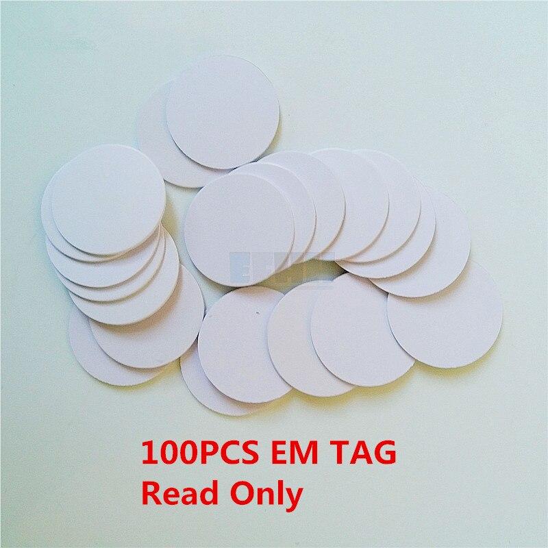 100Pcs/lot 125khz EM4100 TK4100 RFID Coin Tag Card Read Only Access Control Card Diameter 25mm цена и фото