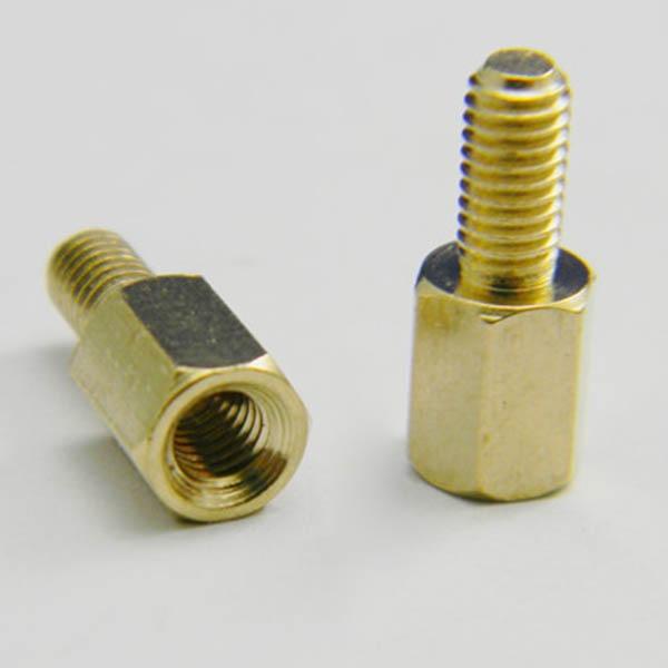 5Pcs/Lot M3 Male 6mm x M3 Female 10mm M3 10+6 Copper Hexagonal Stud Spacer Hollow Pillars VE515 P 50pcs m3 male 6mm x m3 female 10mm brass standoff spacer m3 10 6 copper hexagonal stud spacer hollow pillars m3 10 6mm