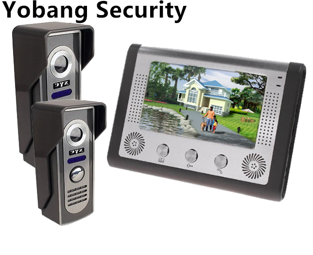 Yobang Security freeship 7Color Wired Video Doorbell and Video Intercom Rainproof Door Phone Home Security door bell phone yobang security free ship 7 video doorbell camera video intercom system rainproof video door camera home security tft monitor
