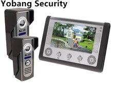 Yobang Security freeship 7″Color Wired Video Doorbell and Video Intercom Rainproof Door Phone Home Security door bell phone
