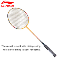 Li Ning U Sonic 67 Badminton Rackets With String Professional Carbon Fiber LiNing Rackets AYPM228 ZYF212