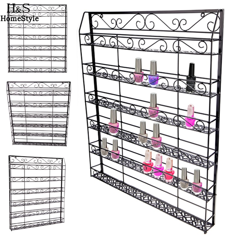 Homdox Nail Polish Rack New Stylish 6 Tiers Wire Display