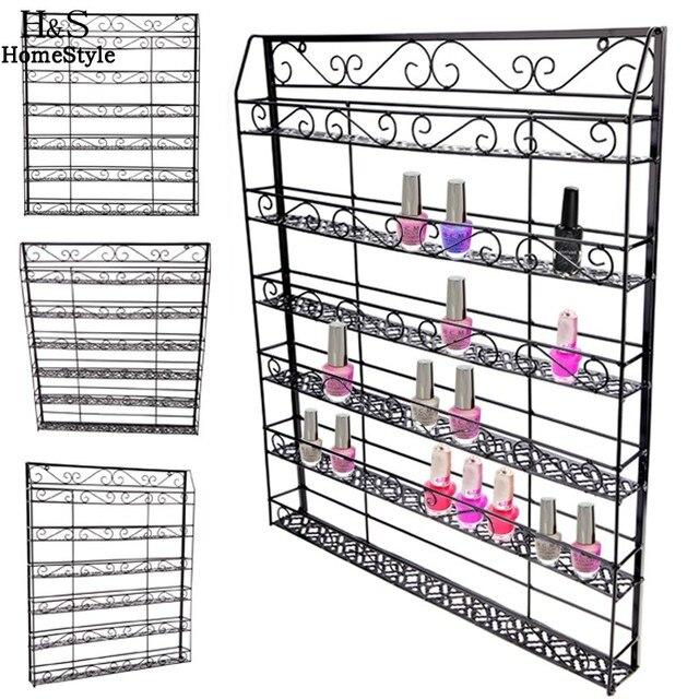 Homdox Nail Polish Rack New Stylish 6 Tiers Wire Display Organizer ...