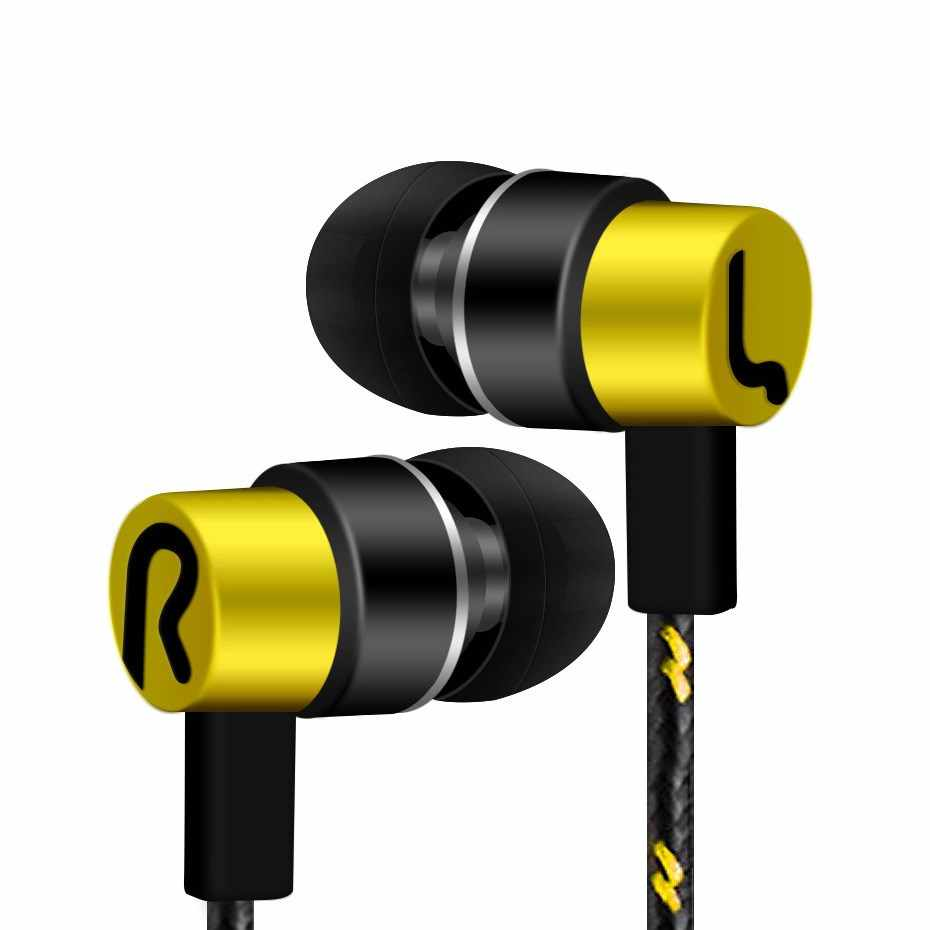 Sports Earphone With Microphone 3.5mm In-Ear Stereo Earbuds Headset For Computer Cell Phone D30 Jan12