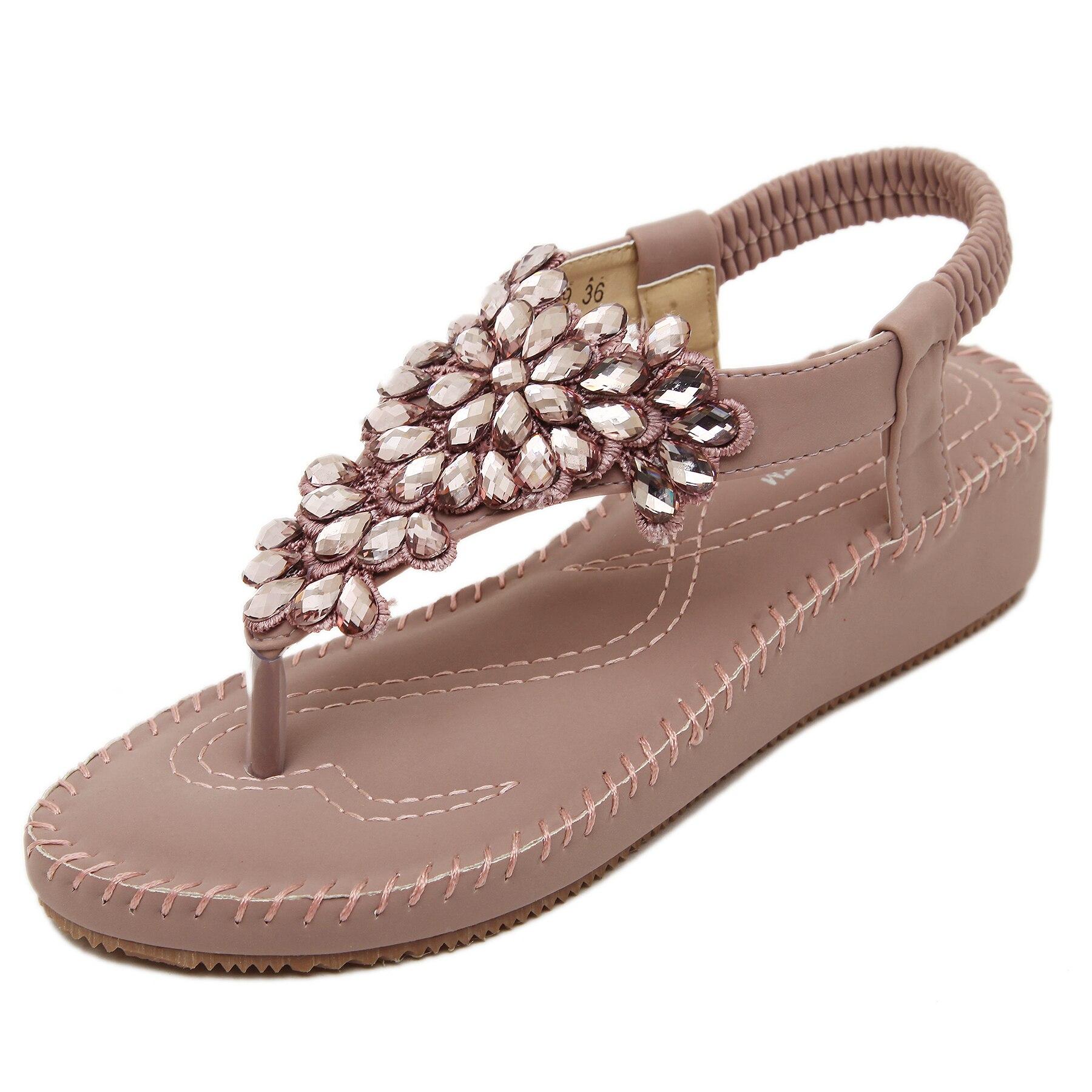 e1c8d48c245c QZYERAI 2018 summer comfortable breathable wedges water drill single shoes  sandals wear-resistant rubber soles sandals size40