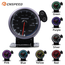 "CNSPEED Shark pin 7 Colors 2.5"" 60mm 12V Universal Car Battery Voltage Meter Auto Volt Gauge 8 18V for honda Car Meter Gauge"