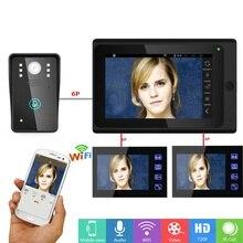 SmartYIBA 7 дюймов проводной/Беспроводной WI-FI RFID видео домофон дверь визуальный домашний Интерком запись Системы Android IOS APP Управление