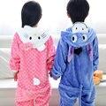 Crianças pijamas meninas Olá Kitty bebés meninos roupas de inverno azul burro camisola pijamas crianças pijamas animais infantil STR14