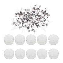 200x предварительно Вощеная хлопковая свеча фитили и 10x пластиковая прозрачная круглая форма чашка пустая форма, Свеча делая материал комплект