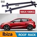 2 шт крыши для сиденья Ibiza (Mk. V)  5-dr хэтчбек 2017 2019 2018 Алюминий сплав Боковые стержни поперечные рейки Багажник на крыше