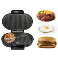 DMWD Home Mini Panini Sandwich Machine 220V Electric Griddle Hamburger Maker Steak Steak Frying Pan Eggs Cooker 750W