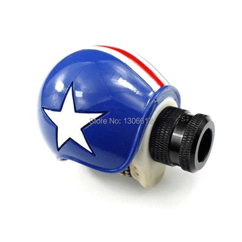 Универсальный Руководство рычаг переключения Шестерни Wicked Skull синий шлем рычаг переключения рычага переключения