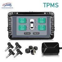 Monitor da pressão dos pneus de usb android tpms/sistema de alarme da monitoração da pressão dos pneus da navegação de android/transmissão sem fio tpms|Alarme de pressão do pneu| |  -