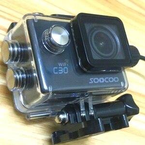 Image 4 - Akcesoria do aparatu wodoodporna obudowa ładowarka shell kabel USB do SJCAM SJ4000 powietrza Sj9000 C30 C30R EKEN H9R dla motocykli Clownfish
