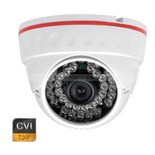 1.0MP 720p CVI Plastic Dome Security Camera 36 IR 3.6mm Wide Angle Lens