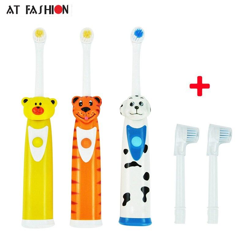 En moda artículos de higiene bucal niños cepillo de dientes eléctrico recargable cabezas dientes eléctrico batería uso para dientes Cuidado