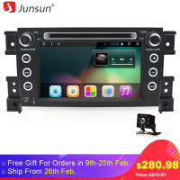 Junsun 8 Autoradio 2 Din Car DVD For Suzuki Vitara 2005 2016 Android 6 0 Radio