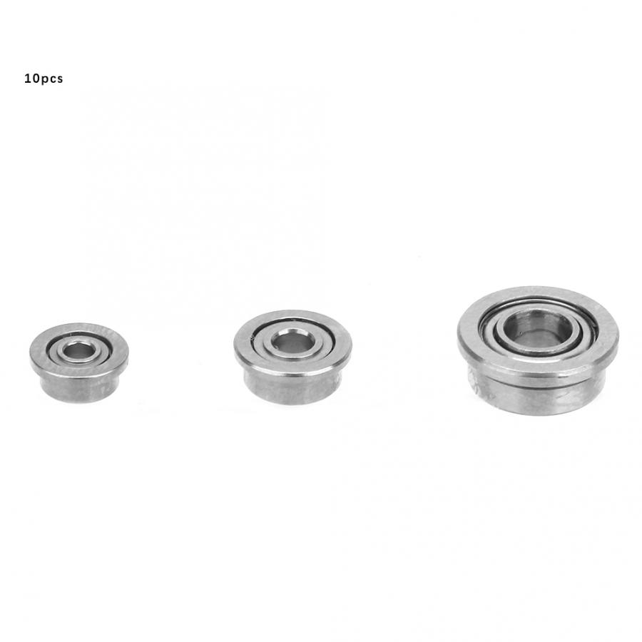 10Pcs/set F681ZZ/F682ZZ/F683ZZ Double-side Rubber Sealed Deep Groove Steel Flange Ball Bearings