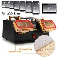 3 в 1 100 240 В 7 дюймов рамки ЖК дисплей ремонт Экран сепаратор тепла авто металлическая пластина анти статические встроенный импортные всасыва