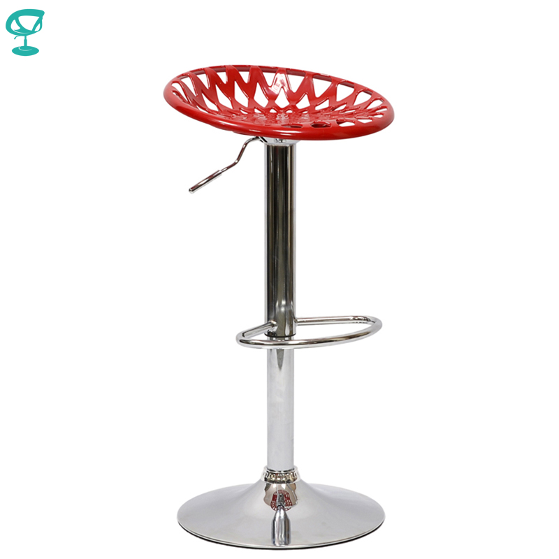 94889 Barneo N-37 Plastic High Kitchen Breakfast Bar Stool Swivel Bar Chair Red Free Shipping In Russia
