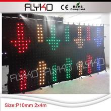 Free shipping fireproof soft led vision curtian/led video curtain /wedding stage backdrop