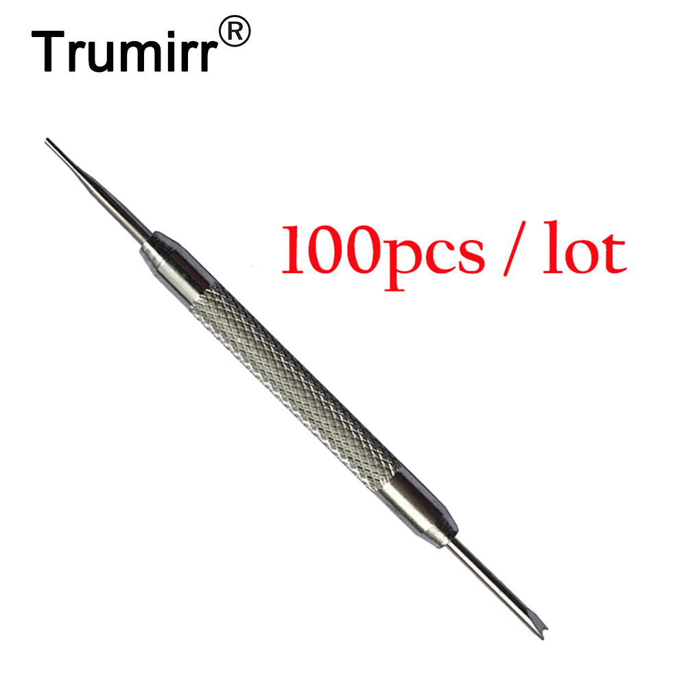100pcs Universal Watch Band Repair Kit Stainless Steel Strap Spring Bar Bracelet Link Pin Remover Removal Tool for Watchmaker no 6730 watch bracelets bands screws removal tool watcch strap screws remover for watchmaker